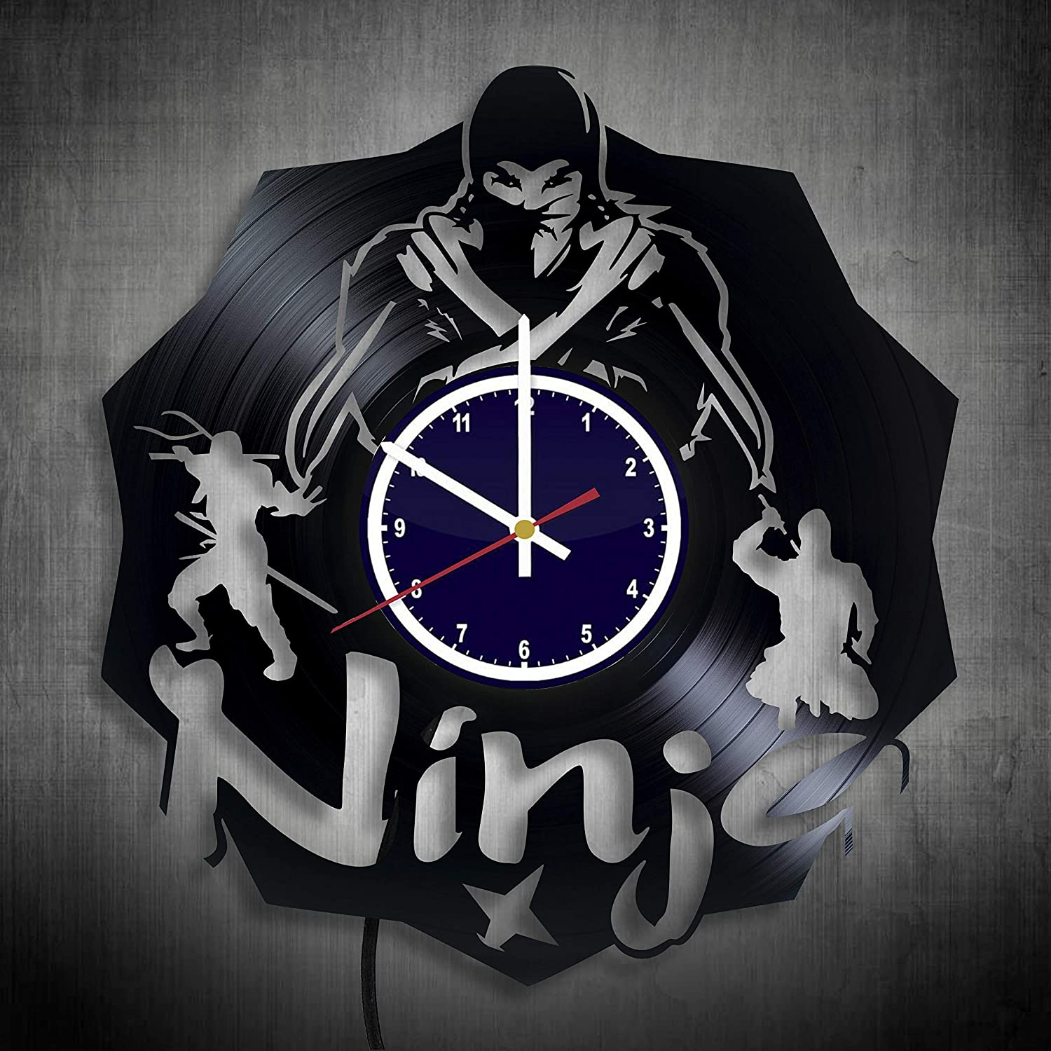 Amazon.com: Ninja Gifts for Men Clock Night light - ninja ...