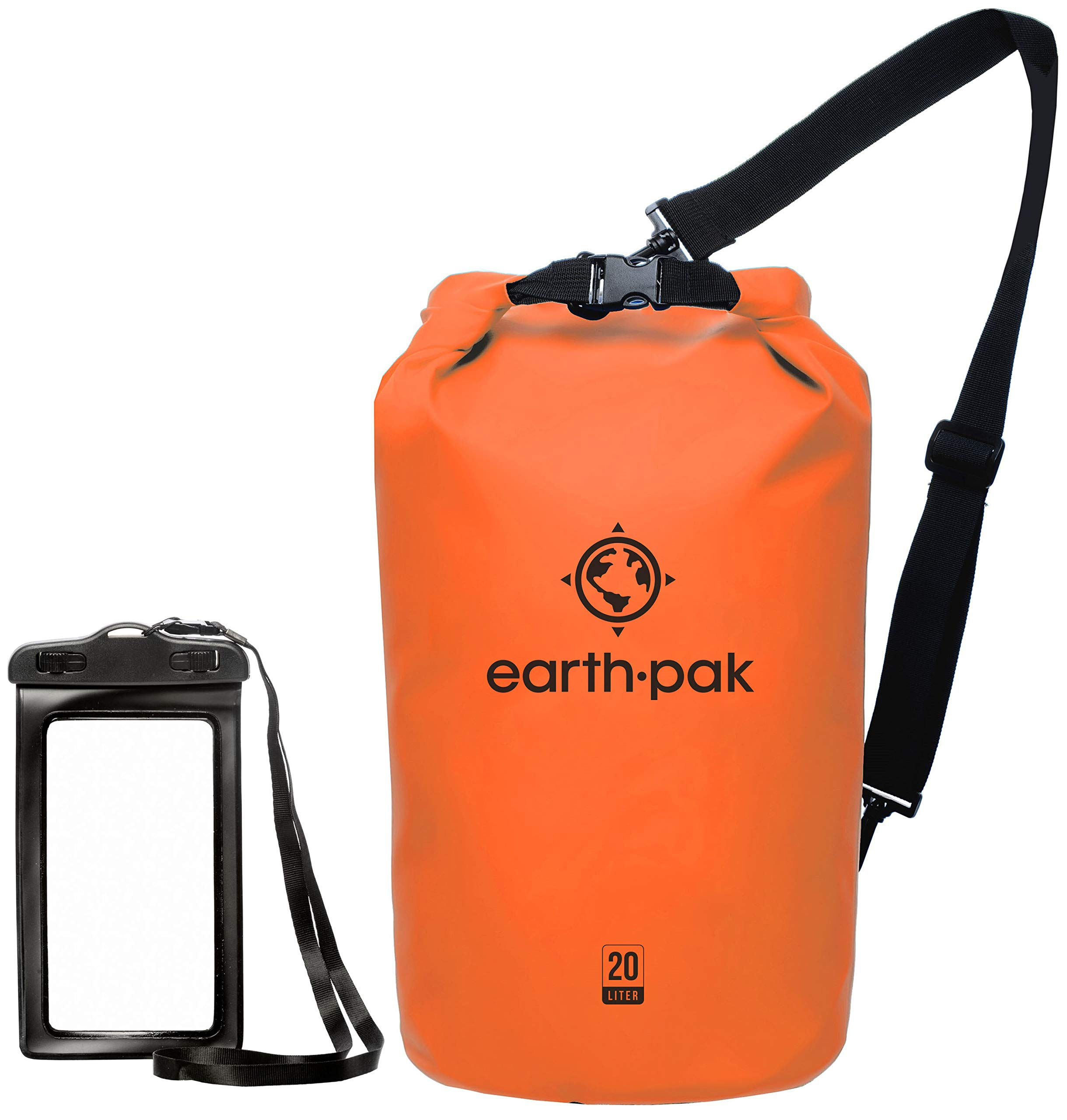 Earth Pak -Waterproof Dry Bag - Roll Top Dry Compression Sack Keeps Gear  Dry for Kayaking, Beach, Rafting, Boating, Hiking, Camping and Fishing with  ... 31f7e2e6a8