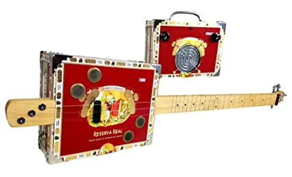 CB Gitty Cigar Box Guitar with matching Cigar Box Amplifier combo: Romeo &  Julietta