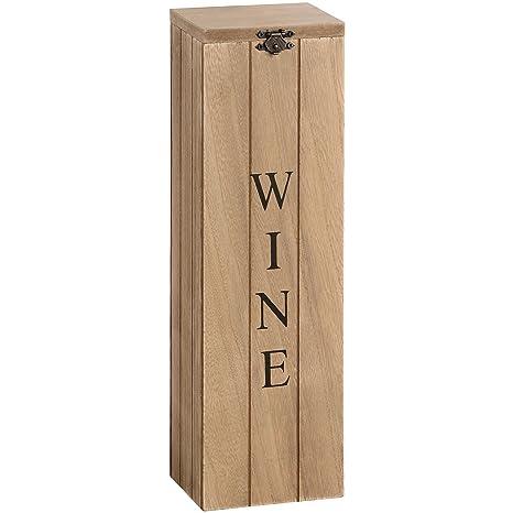 Hill Interiors – Caja de madera para vino, madera, marrón, talla única