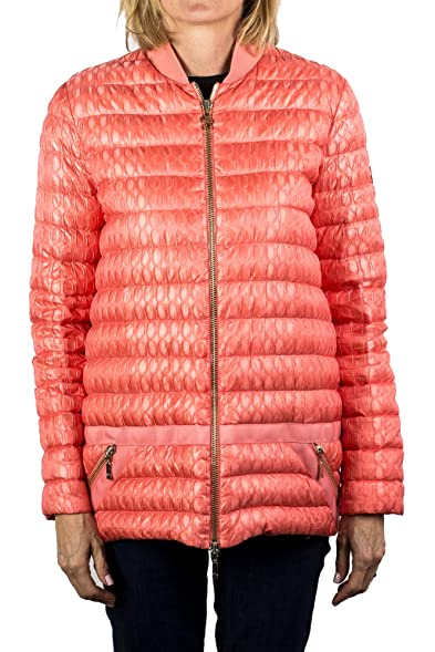 Moncler Gamme Rouge Brooke Padded Down Bomber Jacket Peach Women's