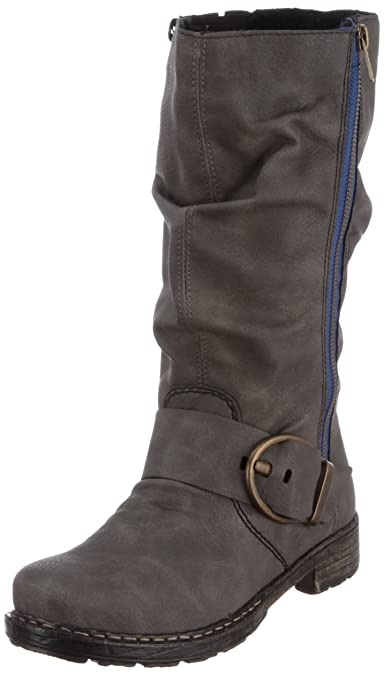 Rieker Damen Rahel Stiefel, Grau dust, 36 EU  Amazon.de  Schuhe ... f2d49d5690