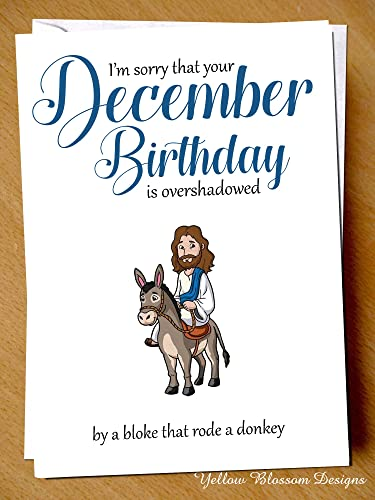 Comical Funny Birthday Greeting Card Happy December Birthday