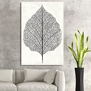 wall26 - Canvas Wall Art - Vintage Style Leaf Vein - Giclee Print Gallery Wrap Modern Home Art Ready to Hang - 24x36 inches