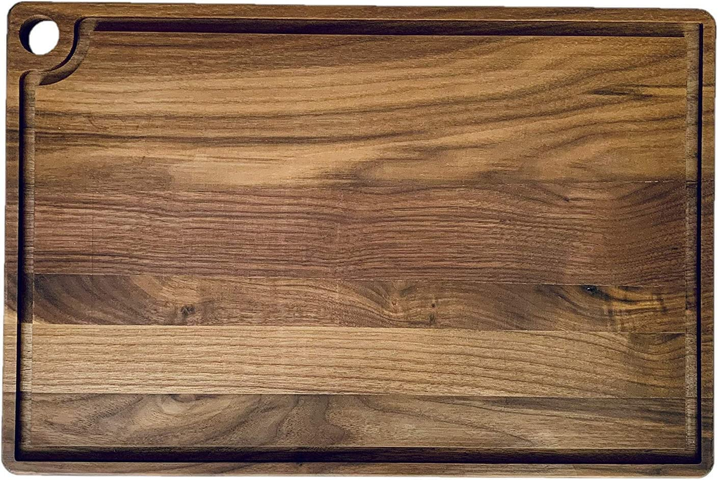 """American Walnut Wood Cutting Board by Accented Kitchen - Reversible with Juice Groove For Chopping, Carving, and Serving - (17 3/4 x 12 x 5/8"""") [並行輸入品]"""