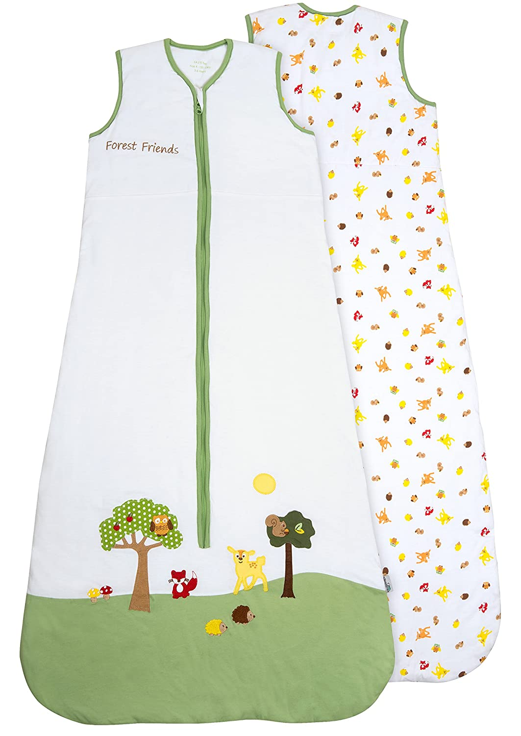 Slumbersafe Summer Toddler Sleeping Bag 1 Tog - Forest Friends, 18-36 months/LARGE