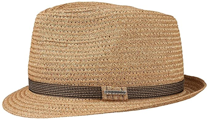 23a38ce65e0 Stetson Selden Toyo Straw Trilby Hat (Small (54-55cms))  Amazon.co ...