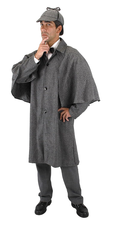 Victorian Men's Costumes: Mad Hatter, Rhet Butler, Willy Wonka Inverness Jacket Adult Costume Size Standard $59.95 AT vintagedancer.com
