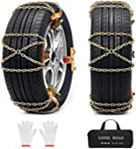 Huttoly 8 Pcs Car Snow Chains Tire Chains for Pickup Trucks