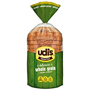 Udi's Gluten Free Delicious Multigrain Sandwich Bread, Frozen, 12 oz.