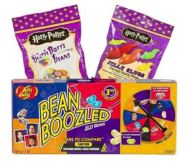 Jelly Belly Harry Potter Jelly Slugs (59 g) und Bertie Botts (54 g) und Bean Boozled Glücksrad (100 g)