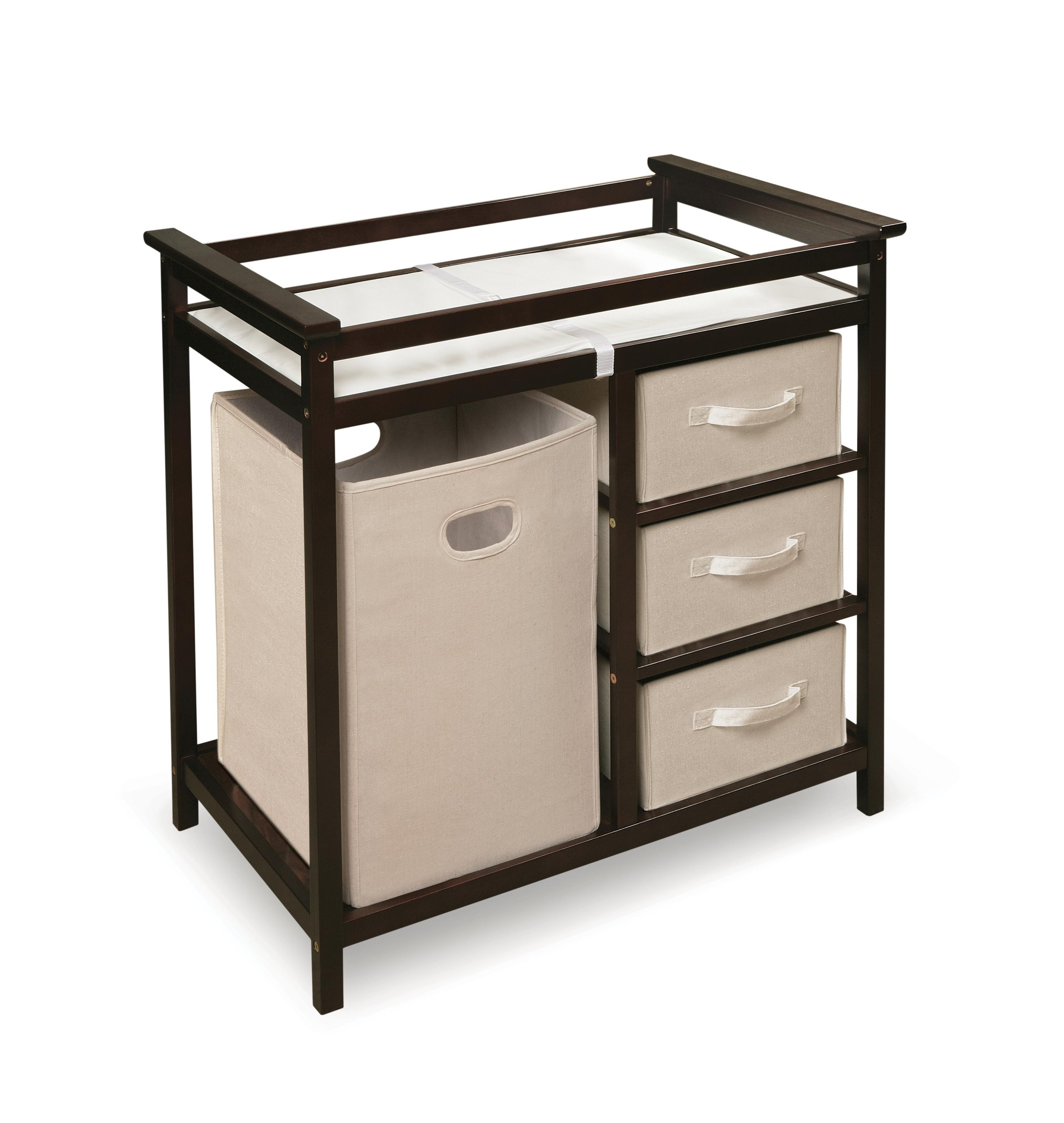 Badger Basket Modern Changing Table with Hamper/3 Baskets, Espresso by Badger Basket