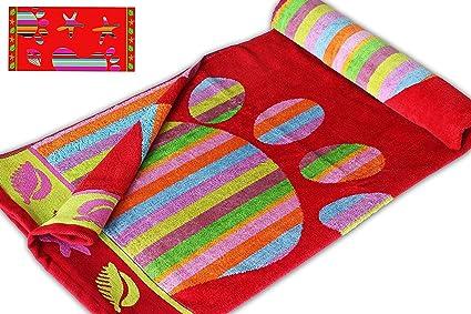 Red Foot Print – Jumbo toalla Extra grande de playa – 100% algodón múltiples diseños