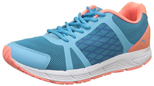 b1dcfb36fd19 Puma Women s Sigma WN s Nrgy Turquoise-Nrgy Peach-White Running Shoes - 3 UK