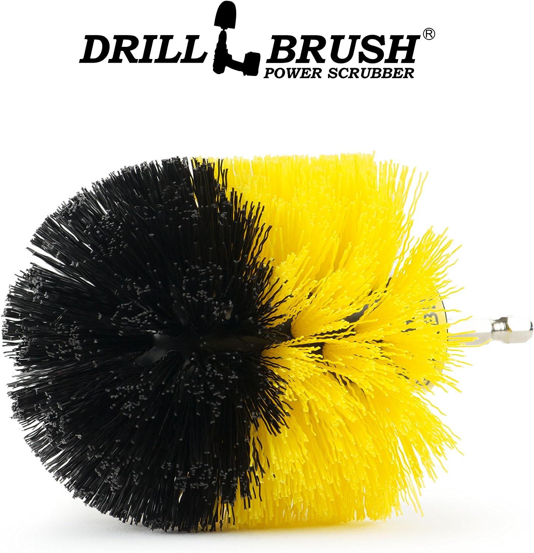 Drillbrush Peque/ño Di/ámetro del hogar del cepillo Accesorio para Inal/ámbrico blanco negro