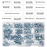 DIY.TK Hex Bolts M6 M8 M10 and Hex Nuts and Washers Set Kit,128 Pcs