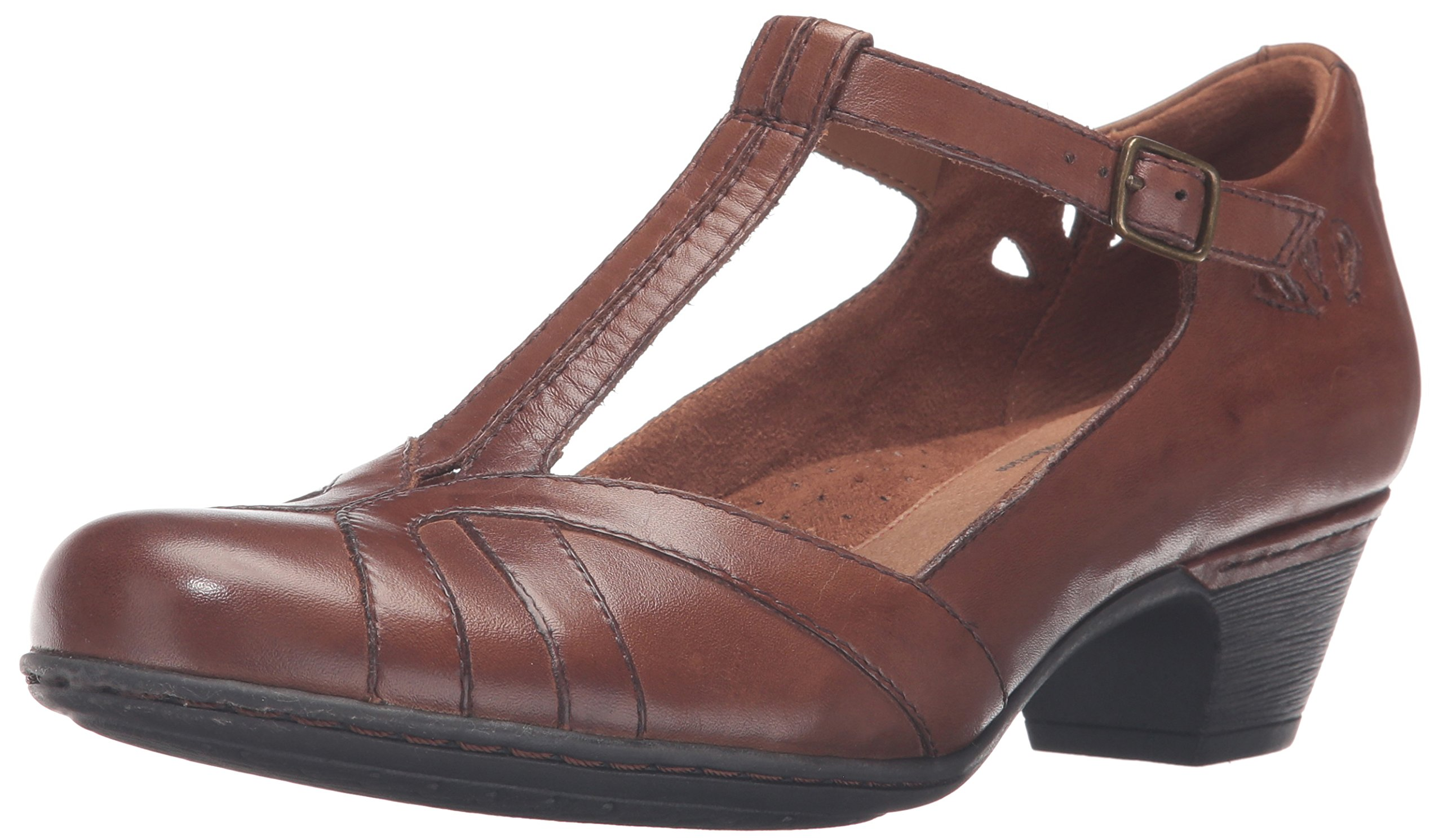 Cobb Hill Rockport Women's Angelina Dress Pump, Almond, 7.5 N US