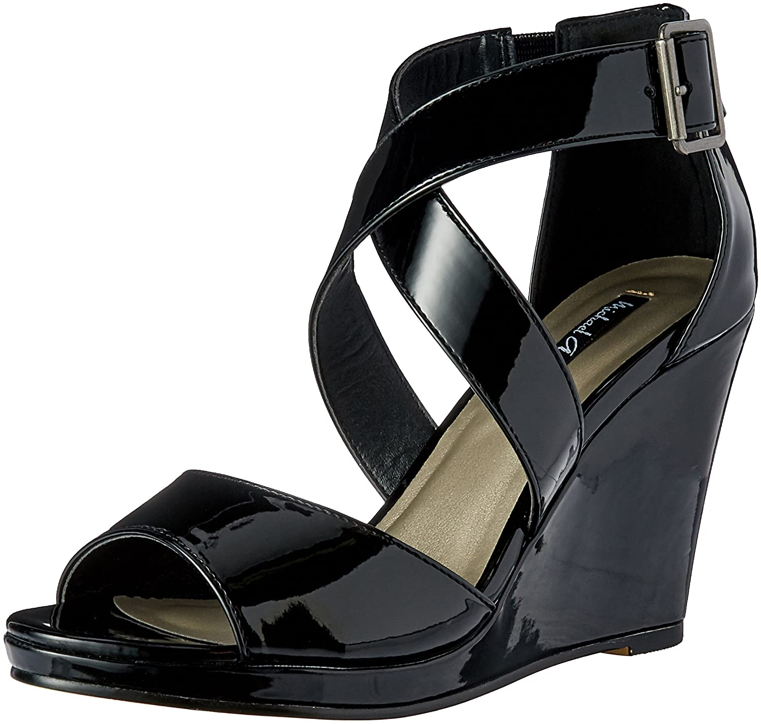 Michael Antonio Women's Amis-Pat Wedge Sandal B01N968MPB 6.5 B(M) US|Black