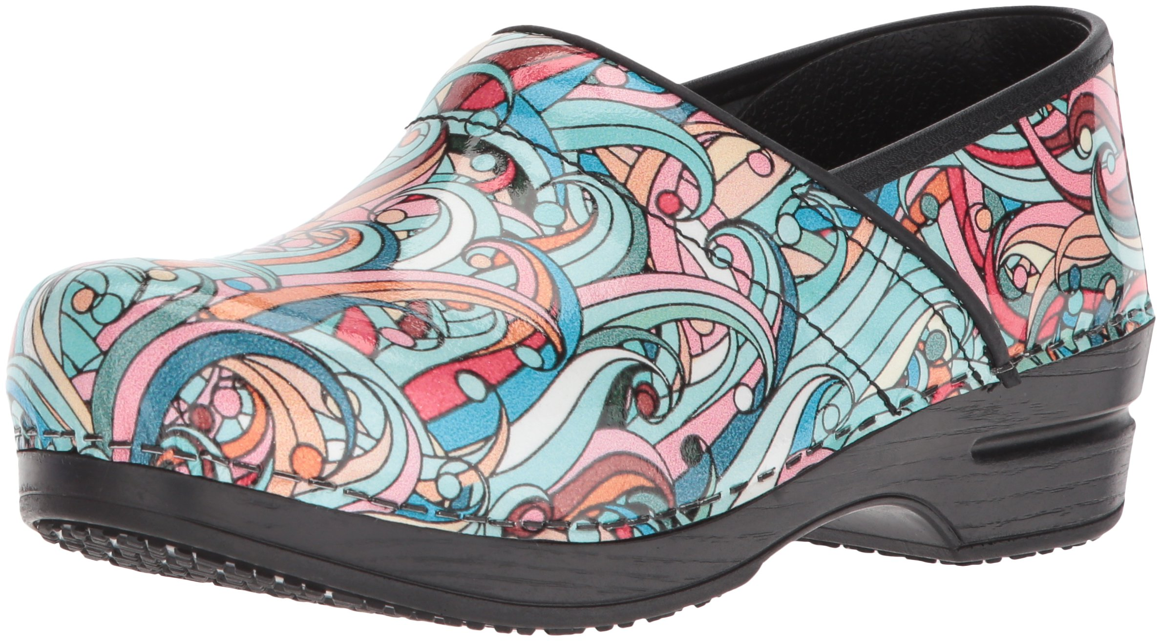 Sanita Women's Smart Step Pro. Siren Clog, Multi, 42 M EU (10.5-11 US) by Sanita
