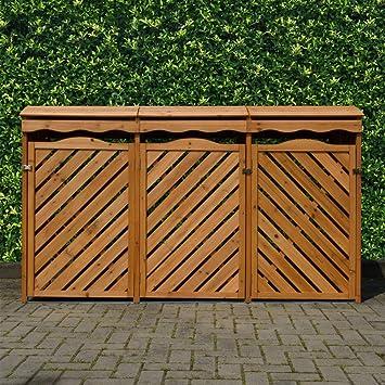 Super Mülltonnenbox für 3 Mülltonnen aus Nadelholz: Amazon.de: Garten GQ31