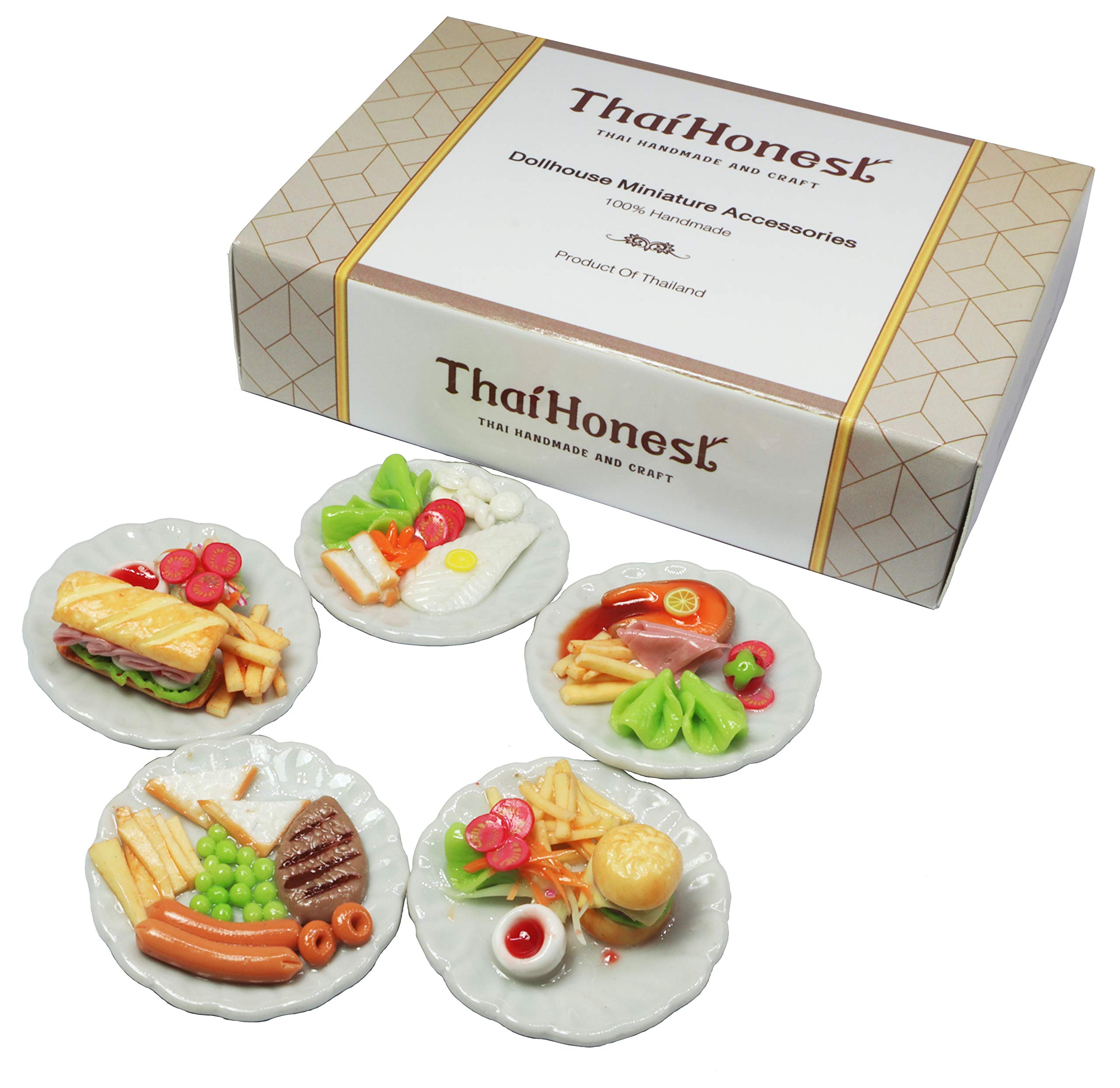 ThaiHonest 5 Mix Dollhouse Miniature Food,Tiny Food,Dollhouse Food
