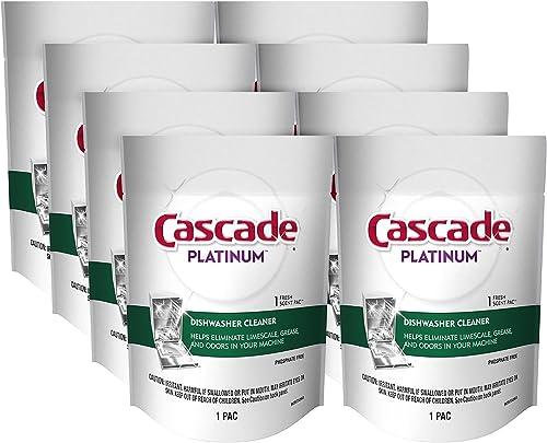 Cascade Platinum Dishwasher Cleaner Pods Fresh Scent