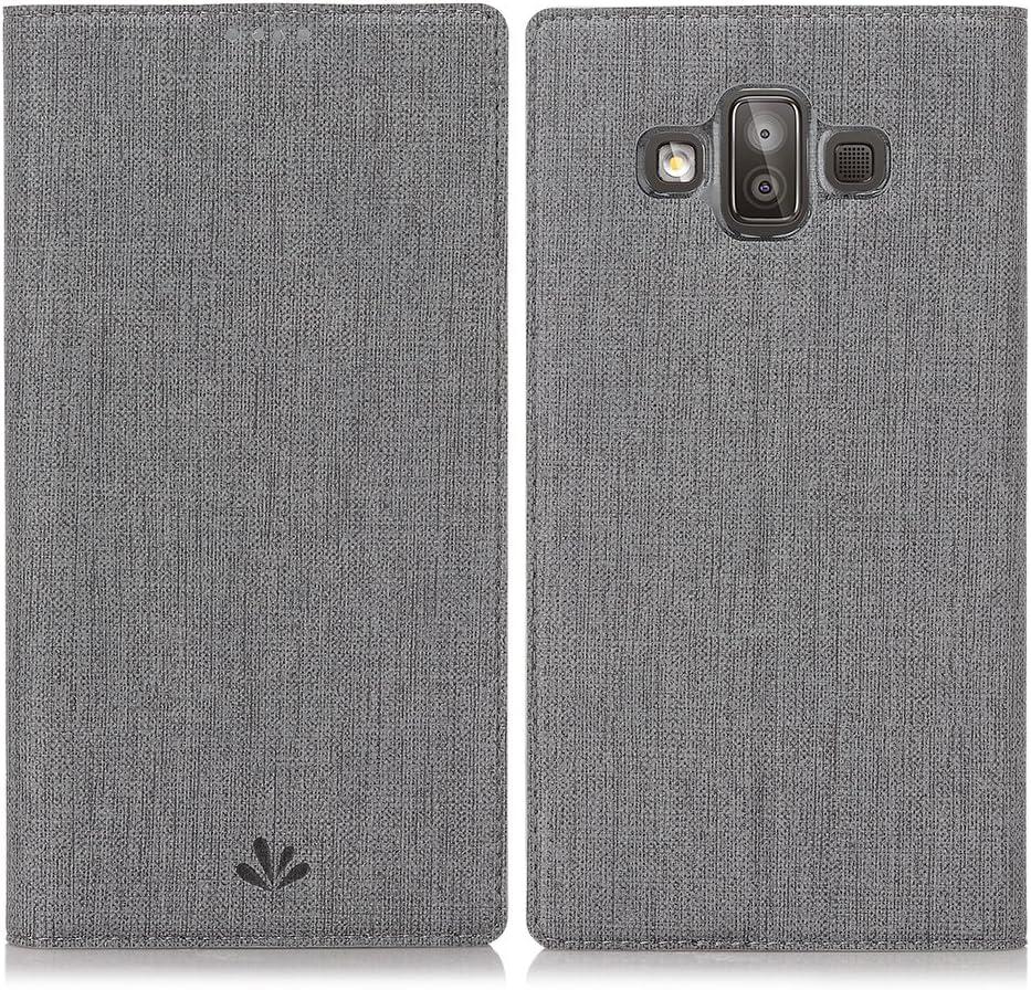 Eastcoo - Funda de Piel con Tapa para Samsung Galaxy J7 Duo, Gris ...