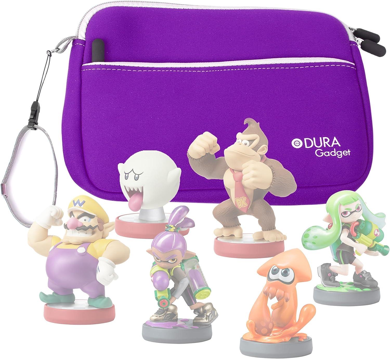 DURAGADGET Purple Water & Scratch Resistant Neoprene Zip Case - Suitable for Nintendo Amiibo Figures (Wii U / 3DS / Nintendo Switch)
