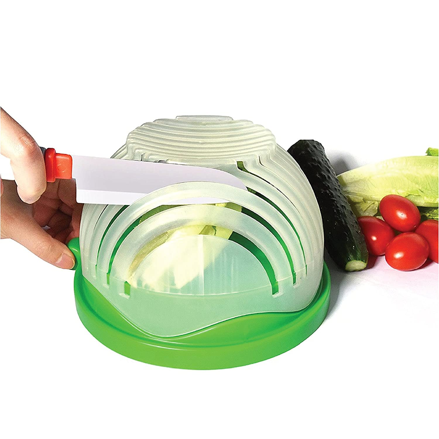 Salad Cutter Bowl - Easily Wash and Cross Cut Lettuce for Fast Salad Preparation Humble Homeware