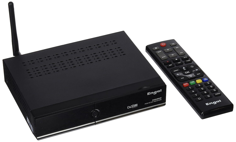 Engel RS8100HD - Receptor satélite de sobremesa (Full HD, PVR, Lector Conax, WiFi, USB 2.0, HDMI, DVBS2, 1 tunner), Color Negro