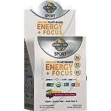 Garden of Life Sport Organic Plant-Based Energy + Focus Vegan Pre Workout Powder Packets (12ct), Sugar Free BlackBerry Cherry