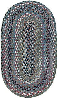 "product image for Capel St. Johnsbury Medium Blue 0' 24"" x 0' 36"" Oval Braided Rug"