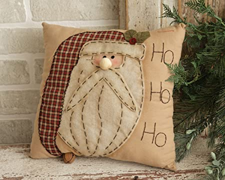 Your Heart s Delight Ho Ho Ho Santa Stitchery Pillow, 12-Inch