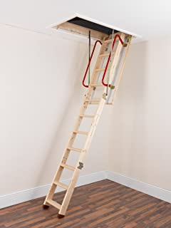tb davies envirofold wooden loft ladders inc 26mm insulated hatch solid spruce treads