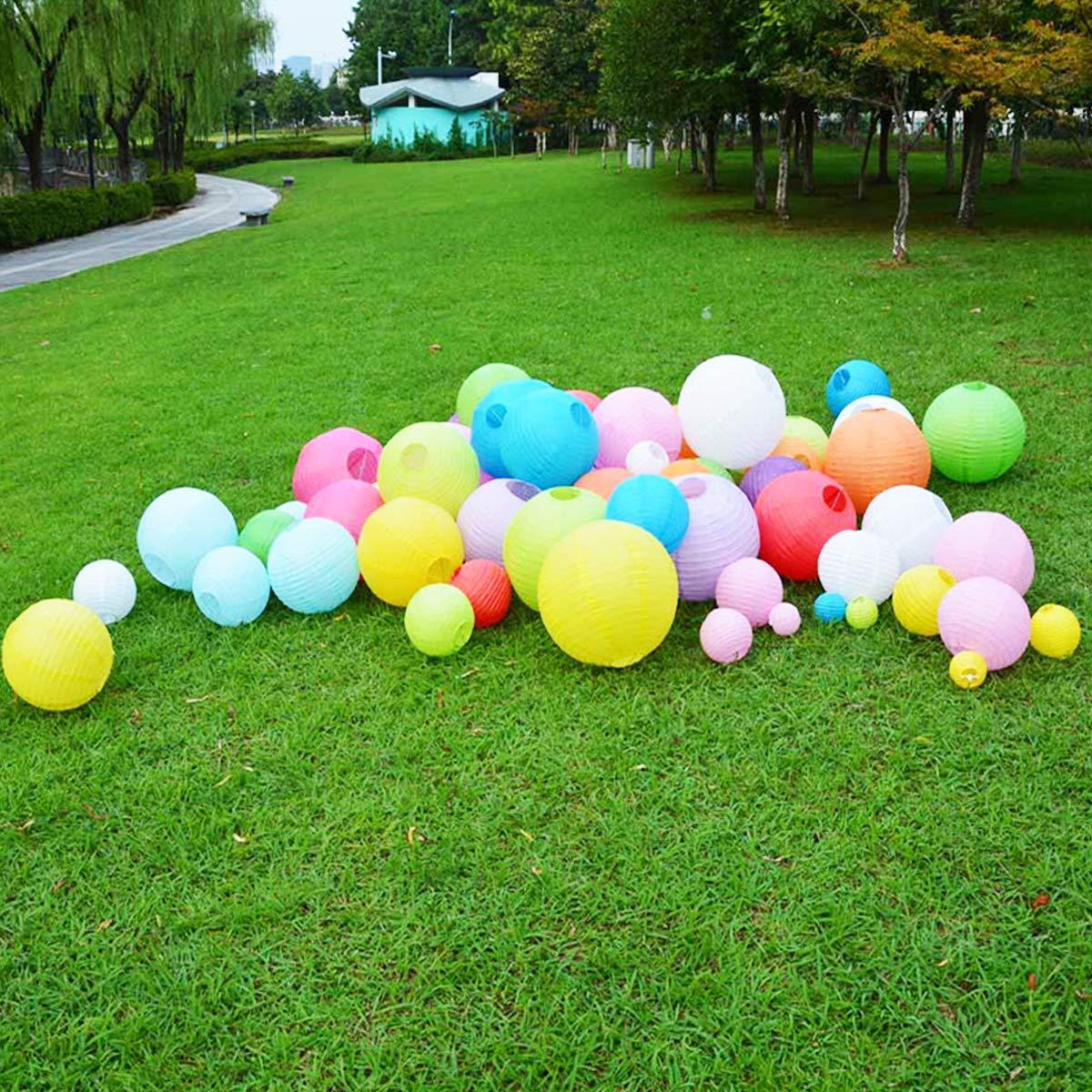 d/écorations suspendues Chinoises en Papier de Lanterne Ronde id/éales pour Les f/êtes U/&X 16 Morceaux de lanternes de Papier color/és Anniversaire Mariage