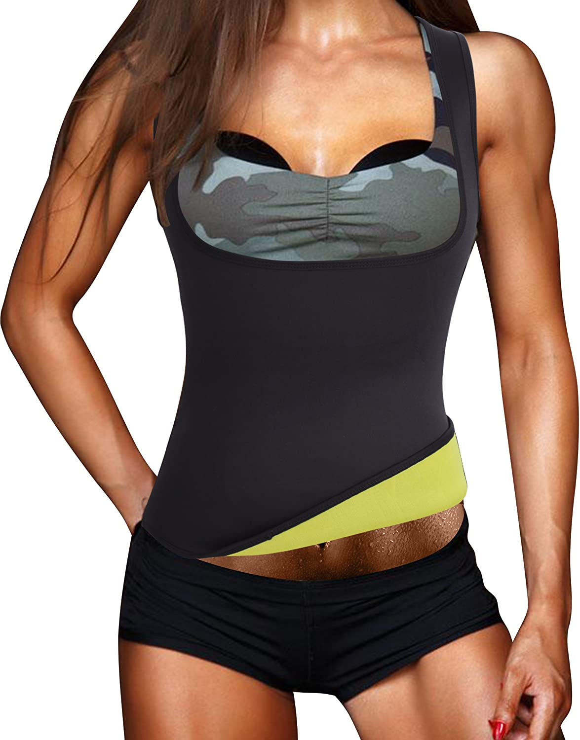 Eleady Womens Workout Waist Trimmer Hot Sweat Slimming Neoprene Shirt Vest Body Shapers