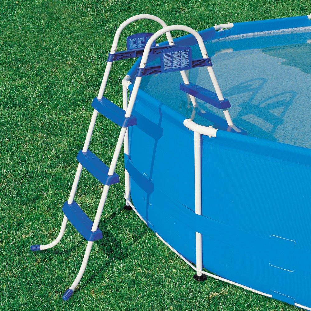 Pool Leiter 91cm Leiter Schwimmbeckenleiter Schwimmbadleiter Hochbeckenleiter