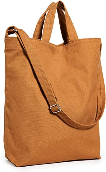 BAGGU Duck Bag Canvas Tote Essential Tote Spacious and Roomy Light Denim