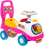 FiNeWaY@ MY FIRST RIDE ON KIDS TOY CARS BOYS GIRLS PUSH ALONG TODDLERS INFANTS CHILDREN (Pink)
