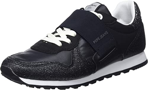 Pepe jeans Verona W New Elastic (Noir) - Baskets  Noir (Black)