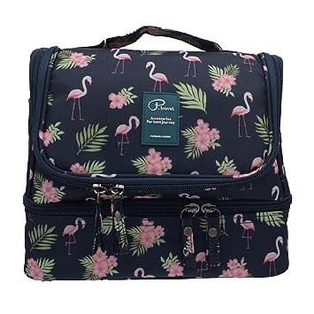 59ca75310b Hanging Travel Toiletry Bag Women Flamingo Waterproof Toiletries Bag Girls  Toilet Bag Wash Bag Organizer Makeup
