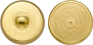 product image for C&C Metal Products 5342 Mesh Swirl Metal Button, Size 36 Ligne, Gold, 36-Pack