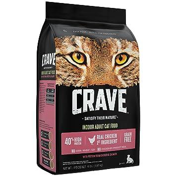 Amazon.com: CRAVE Alimento seco para gatos sin granos con ...