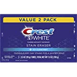 Crest 3D White Stain Eraser Whitening Toothpaste, Icy Clean Mint, 2 Count