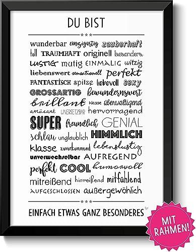DU BIST WUNDERBAR - Bild für Paare Geschwister Eltern Beste Freunde ...