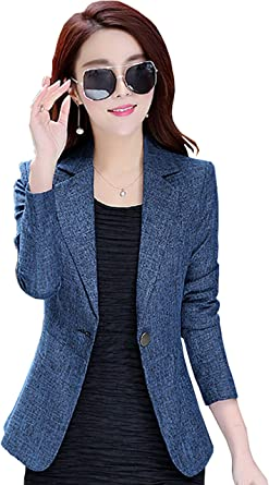 Women S Slim Fit Office Business Blazers One Button Jacket My Wonderful World At Amazon Women S Clothing Store Average rating:4out of5stars, based on1reviews1ratings. women s slim fit office business blazers one button jacket my wonderful world