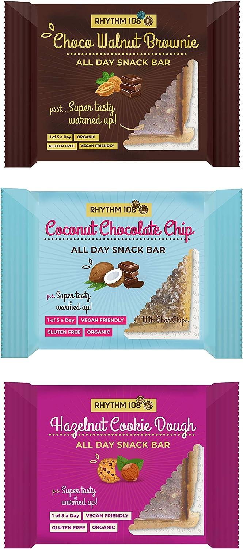 Rhythm 108 Organic Gluten Free Dessert Snack Bar Variety (Pack of 12)