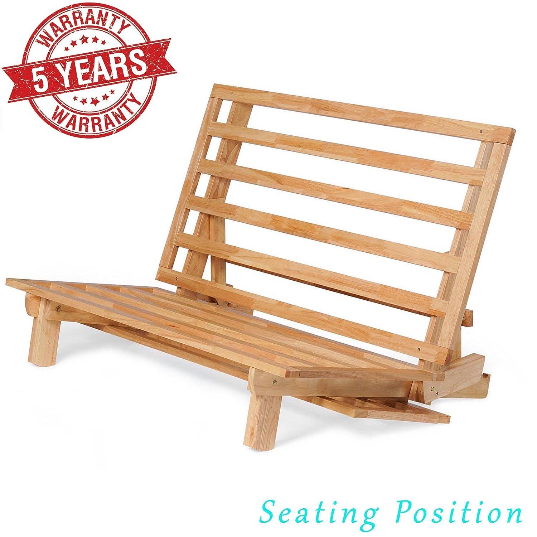 Amazon.com: Nirvana Futons sofá cama – (marco de madera ...
