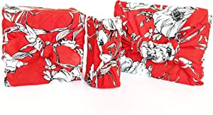 Furoshiki Wrapping Cloth Red Floral Giftwrap (Small)