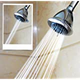 WantBa High Pressure Multiple Spray Shower Head – Great For Relaxing Tired Muscles and Spa - For Wall Mount With Swivel Metal Ball Connector Showerhead - Chrome